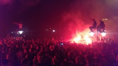 Lech Poznań mistrzem Polski. Feta na placu Mickiewicza