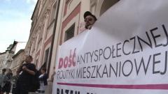 Pikietowali w obronie praw lokatorów